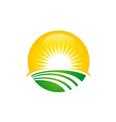 Sun shine happy day logo vector