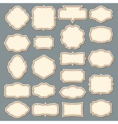 Vintage Label Set Decorative Frame Collection vector image