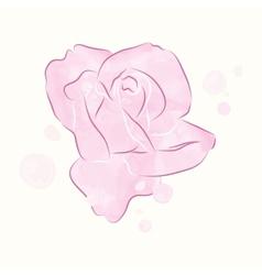 Watercolor rosebud vector