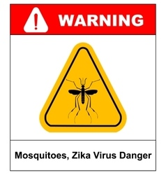 Zika virus danger mosquitoes symbol vector