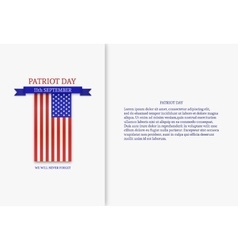 Stylish patriot day american flag stripes vector