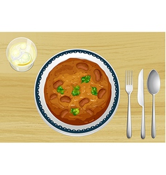 A food in a dish vector