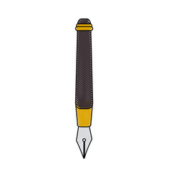 Color blurred stripe of fountain pen icon vector