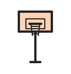 Basketball post vector