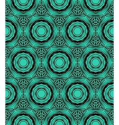 Elegant circular pattern in emerald green vector