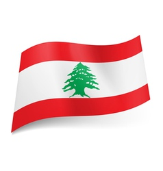 State flag of Lebanon vector image