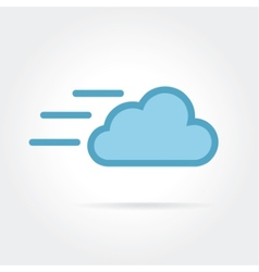 Fast cloud icon logotype vector