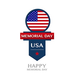 Happy memorial day badge and labels vector
