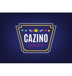 Abstract casino logo template for branding and vector
