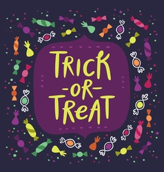 Trick or treat candy card vector