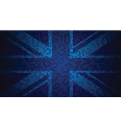 blue uk flag vector image