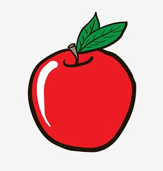 Freehand drawn cartoon apple vector