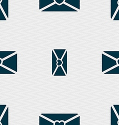 Love letter icon sign seamless pattern with vector