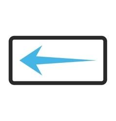 Arrow left framed icon vector