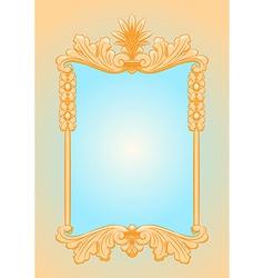 Beautiful ornate rectangle frame vector