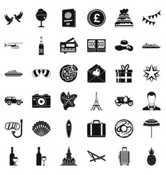 Bride icons set simple style vector