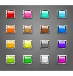 ButtonsSquareNeonSet 01 vector image vector image