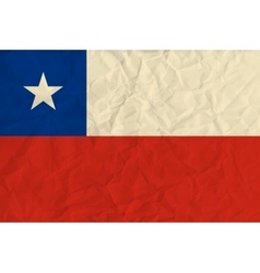 Chile paper flag vector