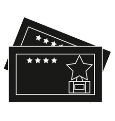 cinema tickets isolated icon vector image