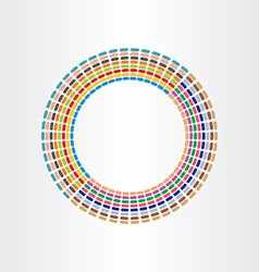 color circle abstract background design with lines vector image