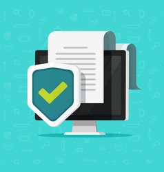 computer protection flat vector image vector image