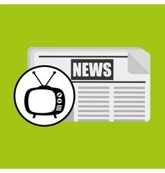 Concept news tv retro icon graphic vector