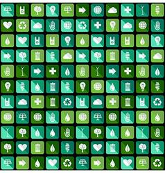 Environmental Green flat icons vector image vector image