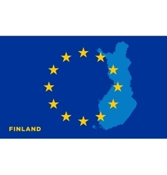Flag of European Union with Finland on background vector image