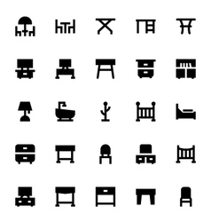 Furniture Icons 3 vector image vector image