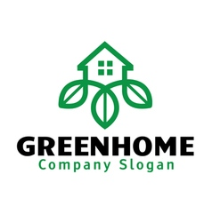 Green Home Design vector image