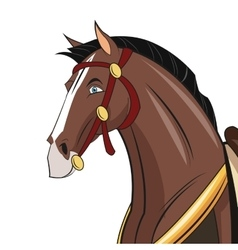 Horse cartoon animal design vector