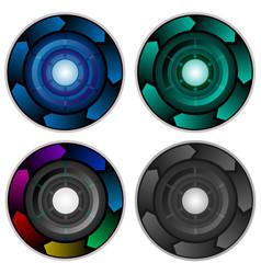 Infographic corporate presentation circle vector