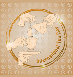 international tea day with vector image