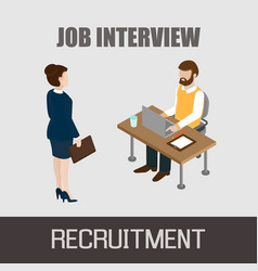 Job interview concept vector