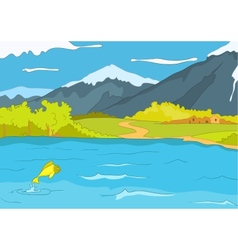 Lake shore vector