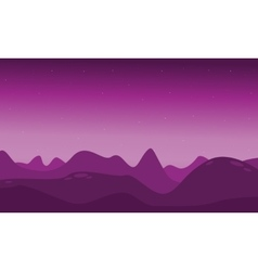 Lifeless landscape with mountain vector image