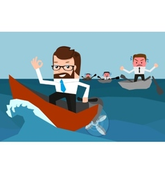 Lucky businessman has won a competition vector image vector image