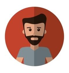 Man bearded casual fashion lifestyle shadow vector