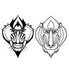 mandrill head vector image vector image