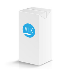 milk package mock up realistic vector image vector image