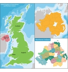 Northern ireland map vector