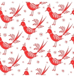 Seamless folk pattern vector image