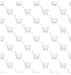 Shopping cart pattern seamless vector