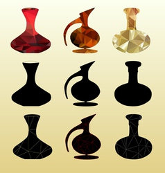 silhouettes decanters vector image vector image