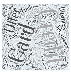 So many credit card offers what to do word cloud vector
