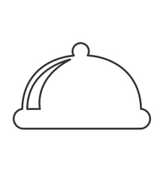tray server menu isolated icon vector image
