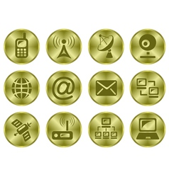 Communication buttons vector