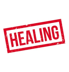 Healing rubber stamp vector