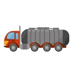 oil tanker truck transport vector image
