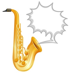 Saxophone on white background vector